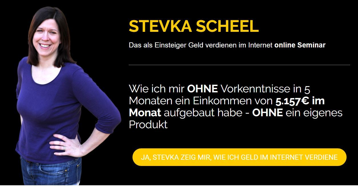 Stevka Scheel - Erfahrungen und Webinar